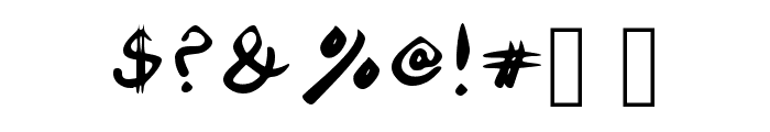 DrownedWorld Font OTHER CHARS
