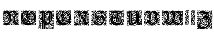 Druckschrift-Initialen Font UPPERCASE