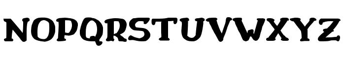 Drukaatie burti resni Font UPPERCASE