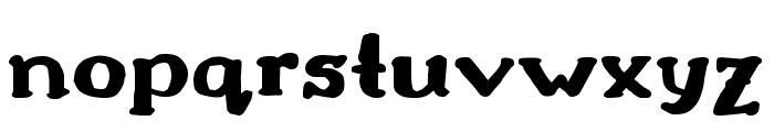 Drukaatie burti resni Font LOWERCASE