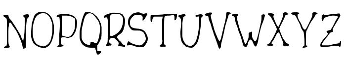 Drukaatie burti smalki Font UPPERCASE