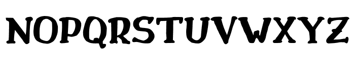 Drukaatie burti trekni Font UPPERCASE