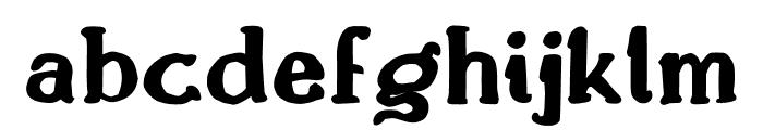 Drukaatie burti trekni Font LOWERCASE