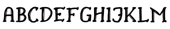Drukaatie burti Font UPPERCASE