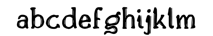 Drukaatie burti Font LOWERCASE