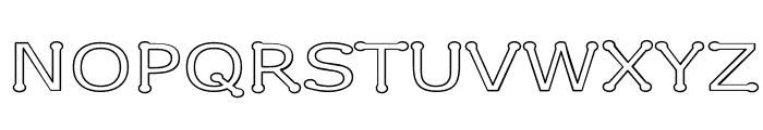 Drummon Outline Font UPPERCASE