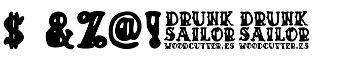 Drunk Sailor Font OTHER CHARS