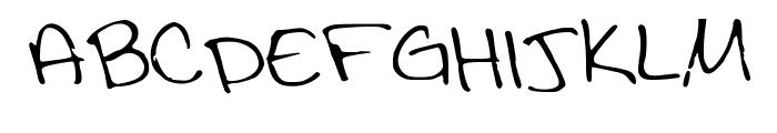 DrunkSharpieThin Font UPPERCASE