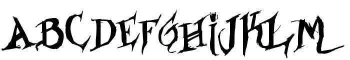 Drunked Serif Font UPPERCASE