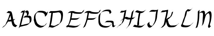 Drunken Calligrapher Font UPPERCASE