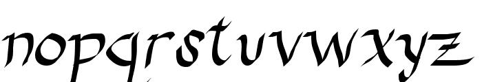 Drunken Calligrapher Font LOWERCASE