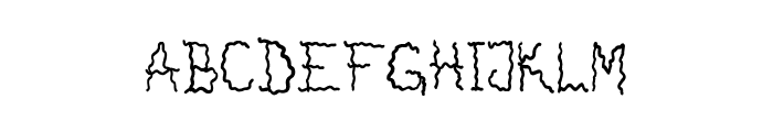 Drunken Horror Ghost Font UPPERCASE
