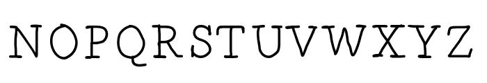 DrunkenSerif Font UPPERCASE
