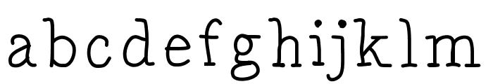 DrunkenSerif Font LOWERCASE