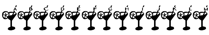 Dry Martini Font UPPERCASE