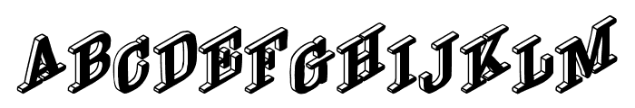 DryGulchBlack Font UPPERCASE