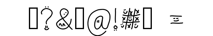 drawn faces on my letters Font OTHER CHARS