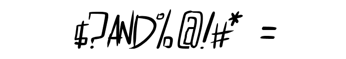 dreamgirl's dream Italic Font OTHER CHARS