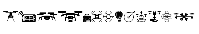 drone Font UPPERCASE