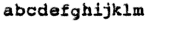 Dr 066 Regular Font LOWERCASE