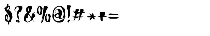 Dragonblood Regular Font OTHER CHARS