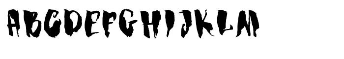 Dragonblood Regular Font UPPERCASE