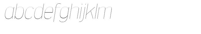 Dream Orphanage UltraLight Italic Font LOWERCASE