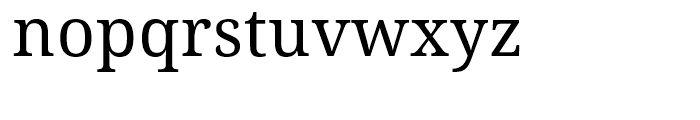 Droid Serif WGL Regular Font LOWERCASE