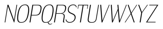 Dream Orphanage ExtraLight Italic Font UPPERCASE