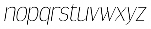 Dream Orphanage ExtraLight Italic Font LOWERCASE