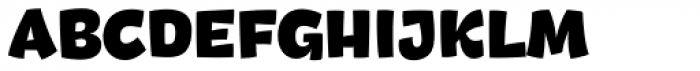 DR Agu Sans Black Font UPPERCASE