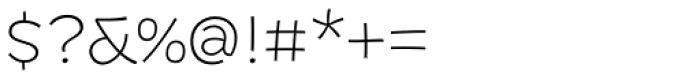 DR Agu Sans ExtraLight Font OTHER CHARS