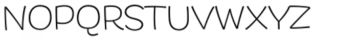 DR Agu Sans ExtraLight Font UPPERCASE