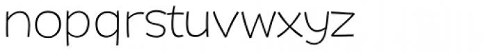 DR Agu Sans ExtraLight Font LOWERCASE