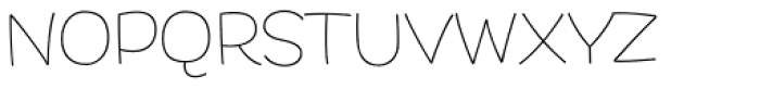 DR Agu Sans Thin Font UPPERCASE