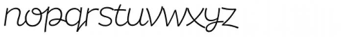 DR Agu Script Extra Light Font LOWERCASE