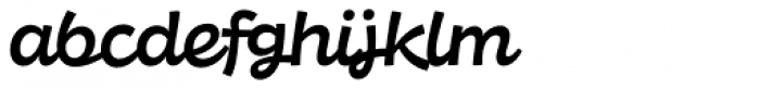 DR Agu Script Medium Font LOWERCASE