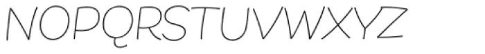 DR Agu Script Thin Font UPPERCASE