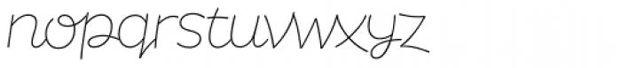 DR Agu Script Thin Font LOWERCASE