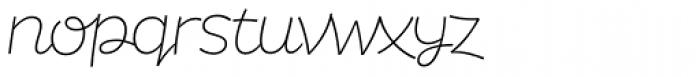 DR Agu Script Ultra Light Font LOWERCASE