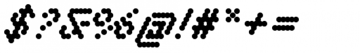 DR Krapka Round Medium Oblique Font OTHER CHARS
