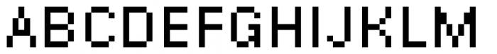 DR Krapka Square Regular Font UPPERCASE