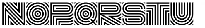 DR Lineart Regular Alt Font UPPERCASE