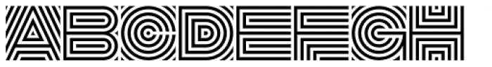 DR Lineart Regular Font UPPERCASE