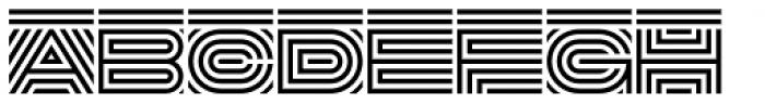 DR Lineart Regular Font LOWERCASE