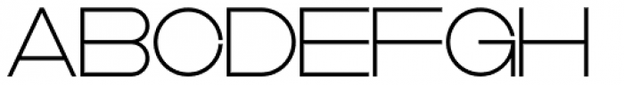 DR Lineart Skeleton Font UPPERCASE