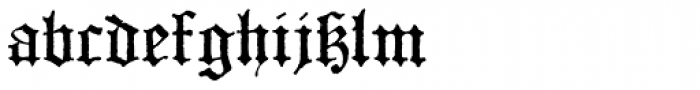 Dractura Font LOWERCASE
