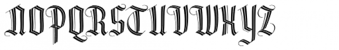 Dracula Inline Font UPPERCASE