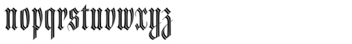 Dracula Inline Font LOWERCASE