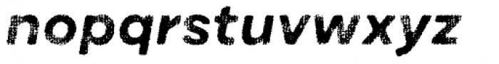 Draft Natural A Bold Italic Font LOWERCASE